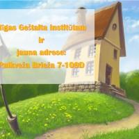 Rīgas Geštalta institūtam ir jauna adrese: Pulkveža Brieža 7-109D